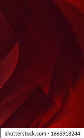 Red background. Gradient. Curved lines.