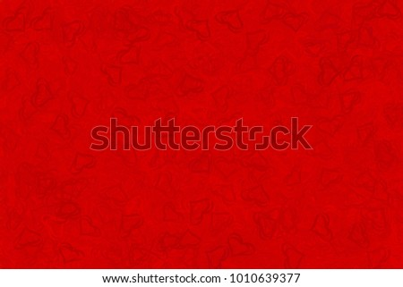 Red Background Red Hearts Screensavers Postcards Stock Illustration