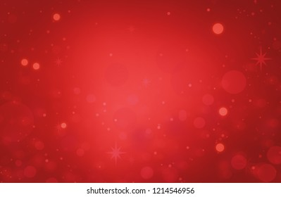 Red background light christmas pattern. Xmas glitter texture decoration bokeh.