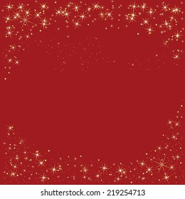 Red background tile with sparkle gold border and copy space tile background