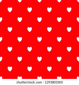 Red valentine's backgroung with white hearts