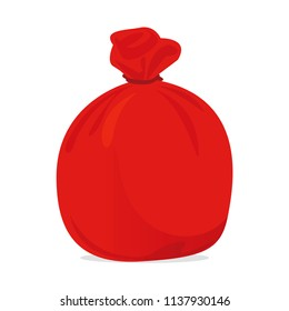 red bag plastic waste, garbage bags plastic red, red plastic trash bag illustration