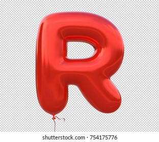 fea0fd137 Red balloon font letter R made of realistic helium red balloon