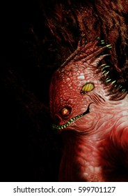 Red Beast from Hell/Digital painting of a scary monster