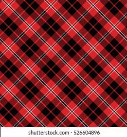 red bias tartan