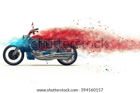 Red bike particle dispersion