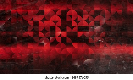 Red and Black Abstract Quarter Circles Background
