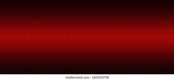 red and black carbon fibre background and texture. 3d illustration. extreme widescreen for website template.