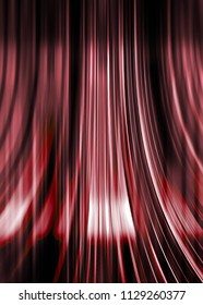 Red and black curving lines background with highlight