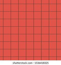 Red and black grid checkered tartan square line art seamless pattern background. It can be use as Math book sheet template, fashion fabric paper craft decoration table cloth etc