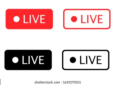 Red and black vibrant buttons on a white background. Vector illustration EPS 10.