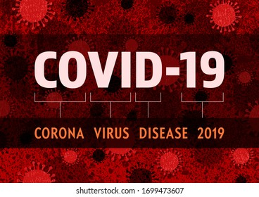 A red and black virus themed image featuring headline text and layered virus silhouettes and shadows over a textured background.