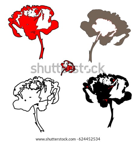 red black white rosesのイラスト素材 624452534 shutterstock