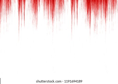 red blood dripping down a white wall