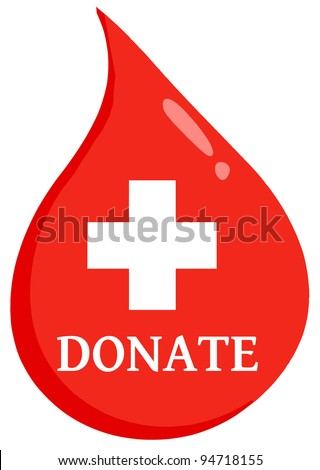 Red Blood Drop Medicine Symbol Text Stock Illustration 94718155