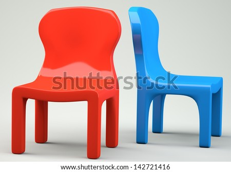 royalty free stock illustration of red blue cartoon styled chairs 3 rh shutterstock com