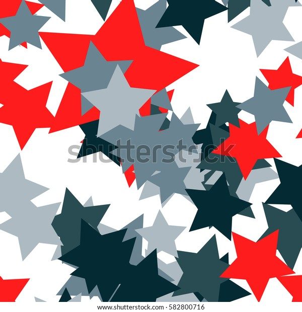 Red and blue stars on a white background