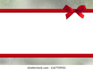 red bow, with copy-space