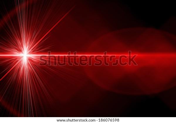 Rayo láser rojo y brillante
