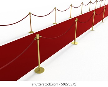 Red carpet from the side