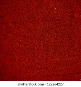 red carpet with some fibres in it