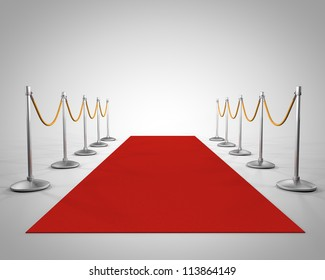 red carpet in studio