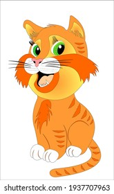 Red cat funny funny picture cartoon