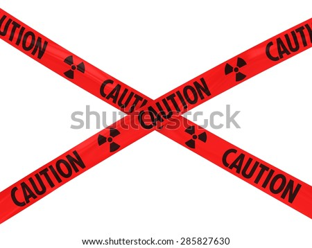 Red Caution Radioactive Symbol