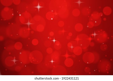red Christmas background with abstract bokeh of holiday romantic light.