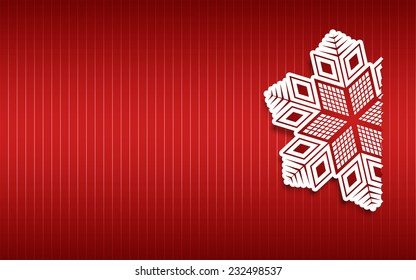 Red Christmas Star Backgroud