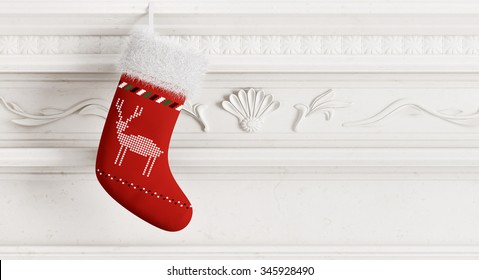 Stockings On Mantle Stock Illustrations Images Vectors Shutterstock