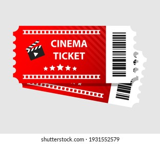Red cinema tickets illustration Movie tickets