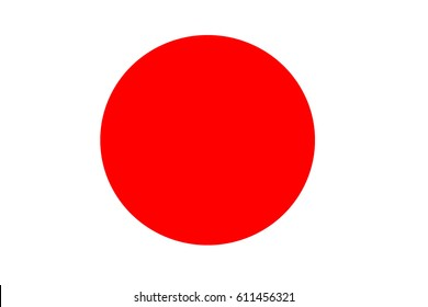 red circle on white background / red dot
