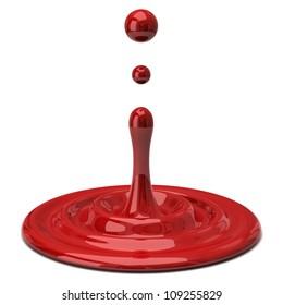 Red color drop