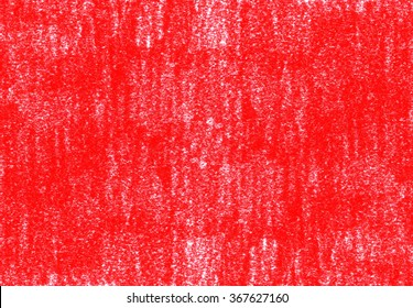 Red crayon vector background. Grunge retro paper texture with chaotic scribbles and scratches. Design element for banner, poster, scrapbook, cards, paper, stationery.