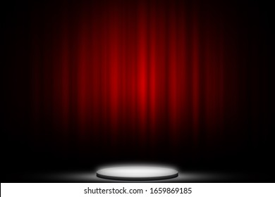 Red curtain show on stage entertainment backdrop, Red curtain background.