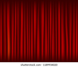 Red curtain for stage seamless texture.