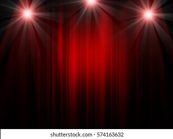 Red curtain stage theater background