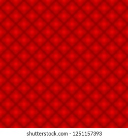 Red Diamond Pattern Repeat Background that is seamless and repeats 3D Illustration