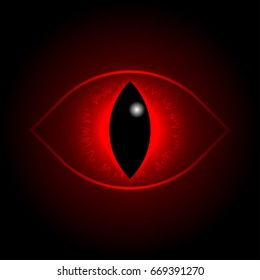 red dragon eye. Rasterized copy.
