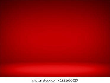 Red empty floor gradient color abstract background.for background and wallpaper Christmas,Valentine festival of Love.