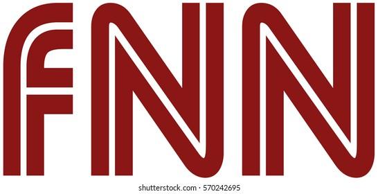 Red fake news logo on white background