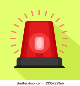 Red flasher icon. Flat illustration of red flasher icon for web design