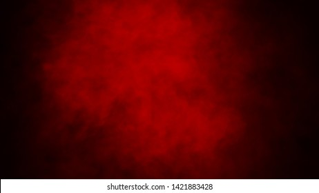 Red fog or smoke isolated special effect on the floor. Red cloudiness, mist or smog background.