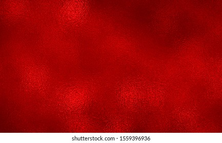 Red foil paper decorative texture background for artwork. Metallic red background foil paper for Christmas background wrapping paper design for Christmas gift, shiny vintage grunge background texture.