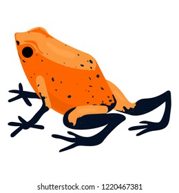 Red frog icon. Cartoon of red frog icon for web design isolated on white background