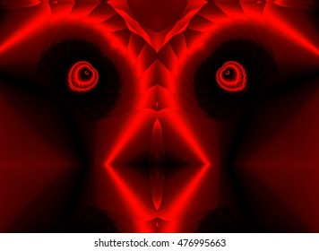 red geometric composition of colors, patterns,texture, allegory of the devil,visual allegories, visual metaphors, photographic allegories, photographic metaphors,
