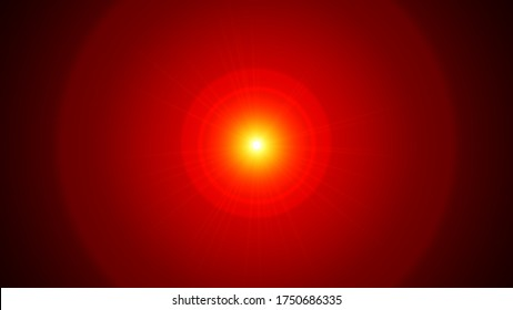 A red giant star. 3d illustration