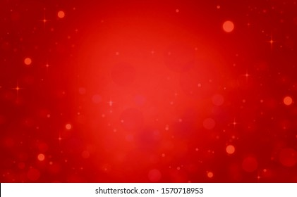 Red glitter christmas lights background. wallpaper blurred