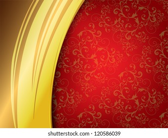 Red and Gold Luxury Background.